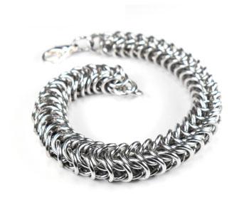 Byzantine and Box Chain Steampunk Bracelet